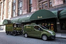nissan green harrods goes green with nissan e nv200 ev info electric car