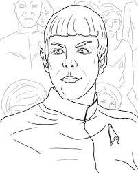 Coloriage  Spok de Star Trek Into Darkness Star Trek vers les