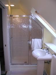 bathroom glamorous attic bathroom ideas sloped ceiling bathtub