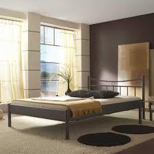 Schlafzimmer In Grau Schickes Metallbett Sina Ii In Grau Pharao24 De
