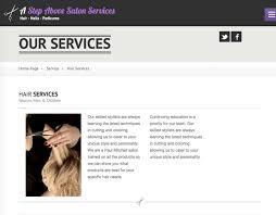 excelisys a step above salon wordpress website
