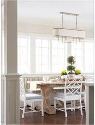 White Breakfast Nook Breakfast Nook Features A Long Built In Banquette Doubling As