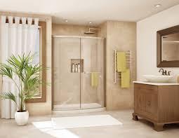 bathroom set ideas with modern heated towel rack and universal