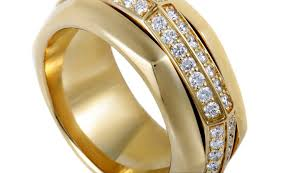 piaget ring jewelry piaget possession womens rotating 18k yellow gold diamond