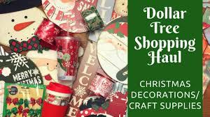 dollar tree shopping haul christmas decorations crafting