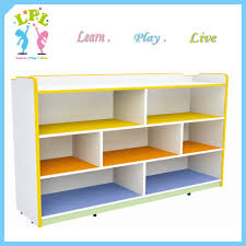 Childrens Storage Furniture by Fireproof Three Shelves Wooden Toys Storage Cabinet Preschool