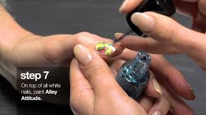 how to create spray paint graffiti nail art new york fashion