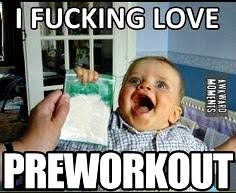 Preworkout Meme - the 4 phases of pre workout addiction that only lifters will understand