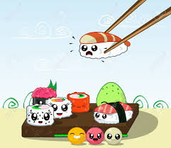 cuisine kawaii japanese cuisine food illustration set of kawaii