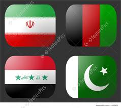 Pakistans Flag Illustration Of Iran Iraq Afghanistan Pakistan Flag