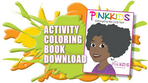 coloring book pink kids luster products