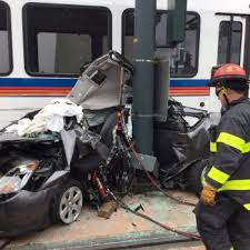 an rtd train collided with a prius in downtown denver