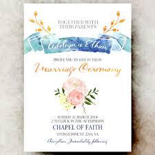 digital wedding invitations blue pink weddding invitation sea wedding invitation printable