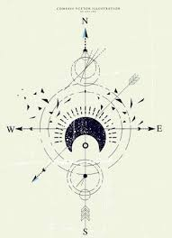 compass background retro flat sketch vectors stock in format for