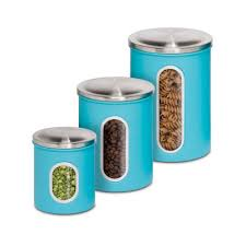 kitchen storage canister honey can do 3pk metal storage canisters