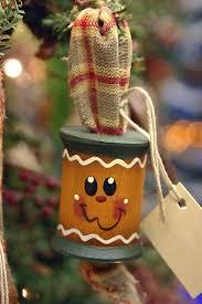 spool ornament ornaments gingerbread
