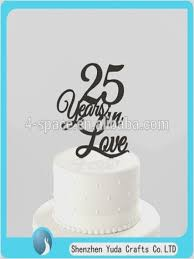 25 cake topper 25th wedding anniversary cake toppers weddingcakeideas us