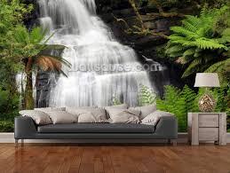 kitchen wallpapers background 38 custom landscape wallpaper 3d rainforest waterfall for living room