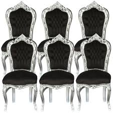 6 chairs black u0026 silver baroque table dining room furniture home