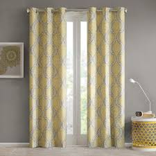 design lilly damask printed window curtain set