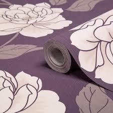 kitchen washable wallpaper diy colours ella purple white floral wallpaper