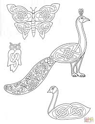 celtic animals designs coloring page free printable coloring pages
