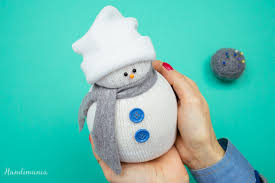 how to make no sew sock snowman all steps diy u0026 crafts