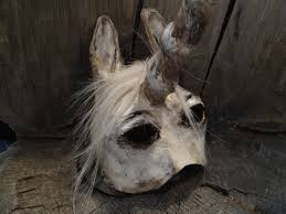 animal masquerade masks paper mache horse unicorn mask 58 00