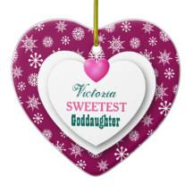 goddaughter ornament goddaughter ornaments keepsake ornaments zazzle