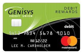 debit card for mastercard debit card rewards program genisys credit union