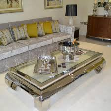 Silver Living Room Furniture Coffee Table Awesome Glass And Chrome Coffee Table Designs Chrome