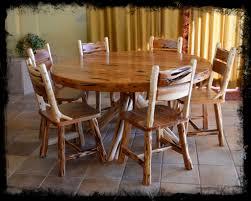 Wooden Log Beds 5 U0027 Round Cedar Dining Table Cedar Furniture Dining Table Log