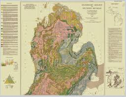 A Map Of Michigan by Quarternary Geology Of Southern Michigan