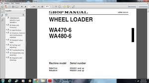 komatsu wa470 6 wa480 6 wheel loader service repair workshop