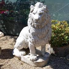 statue lions lovely ideas lion garden statue lions ornaments ebay gardening