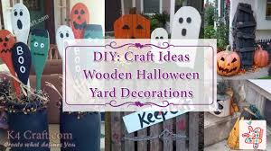 diy ideas for wooden halloween yard decorations k4 craft