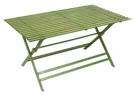 metal folding table outdoor metal folding rectangular garden table in green 170cm metal
