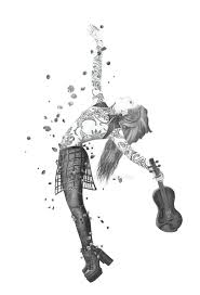 lindsey stirling brave pencil drawing milanrko deviantart
