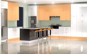 modern high gloss kitchens modern kitchen rendering u2013 high gloss white and orange finish