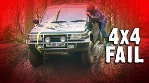 funny fail frontera gets stuck off road driving at 4x4 without a