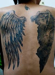 Wing Back Tattoos For - simple back wings tattoomagz