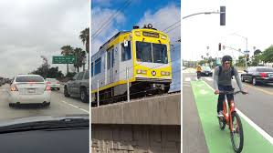 Fast City Slow Commute Center by Dtla To Santa Monica Car Vs Train Vs Bike Hollywood Reporter