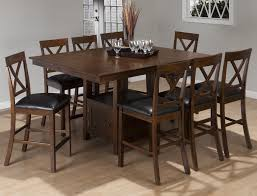 counter height gathering table interior counter height gathering table with storage inside dining