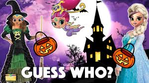 shimmer and shine halloween game guess who trick or treat surprise