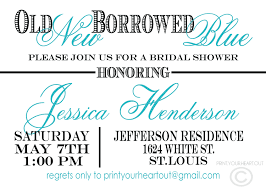 old new borrowed blue bridal shower games pinterest bridal