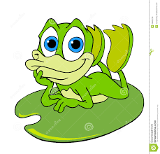 cute frog on a lily pad royalty free stock photos image 28400728
