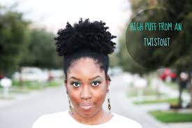hair with poof on top natural hair high puff from an old twist out youtube