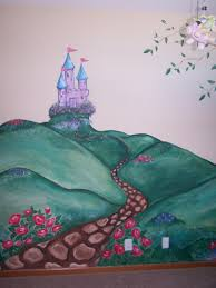 stacy s creations children s murals fairytale castle wall mural in nursery