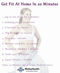 home work out plans 20 minute home fitness workout
