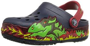 crocs light up boots amazon com crocs kids light up fire dragon clog clogs mules